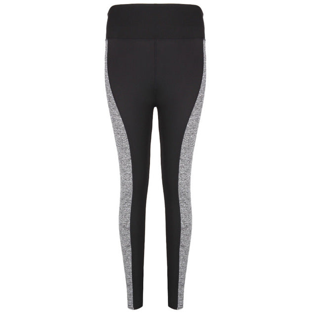 Women Gradient Stitching Pencil Slim Skinny Pants Tight Long Pants Black Slim Fit Hip Elastic Waist Trousers
