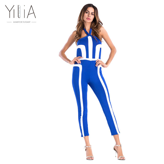 1b77ed588dea ... Women Summer Rompers Jumpsuit Off Shoulder Sleeveless Overalls Fitness  Halter Workout Bodysuit Playsuit Catsuit ...