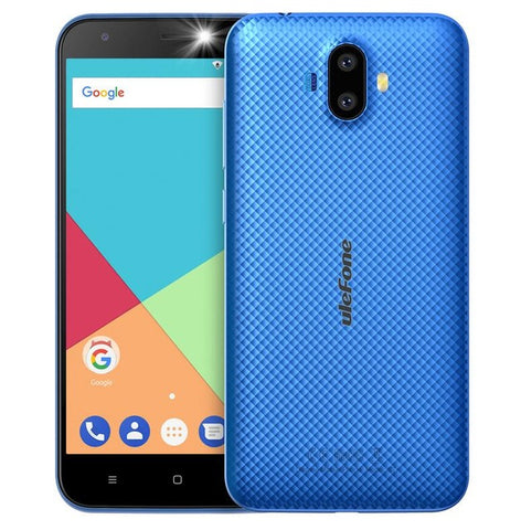 Ulefone S7 Dual Rear Cameras Mobile Phone MTK6580A Quad Core Android 7.0 5.0 inch HD 1GB 8GB 8MP+5MP 2500mah 3G WCDMA Cellphone