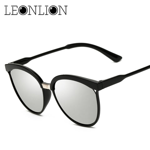 LeonLion Candies Brand Designer Cat Eye Sunglasses Women Luxury Plastic Sun Glasses Classic Retro Outdoor