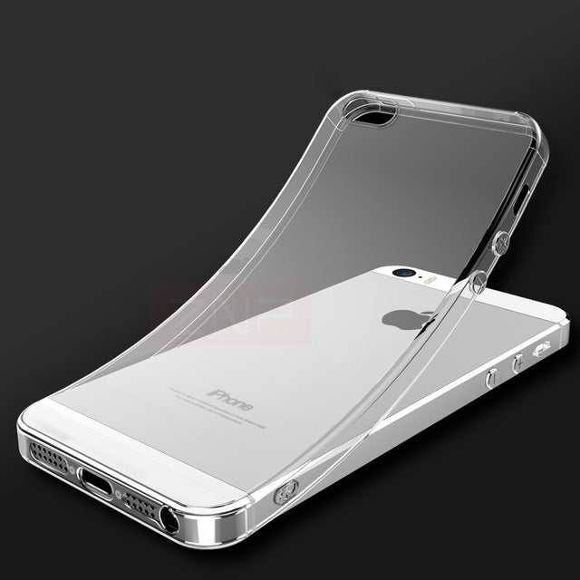 sale retailer 95236 b1bc6 ZNP Ultra Thin Soft Transparent TPU Case For iPhone 5 5S SE Clear Silicone  Case Cover For iPhone 5S SE 5 Phone Case Capa Coque