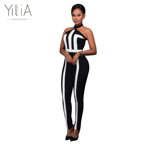 a91acc73404a Women Summer Rompers Jumpsuit Off Shoulder Sleeveless Overalls Fitness  Halter Workout Bodysuit Playsuit Catsuit