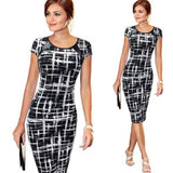 Women Summer Bandage Bodycon Cocktail Polka Dot Vintage Dress