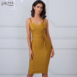 Winter Bandage Dress Woman Spaghetti Strap Bodycon Dresses