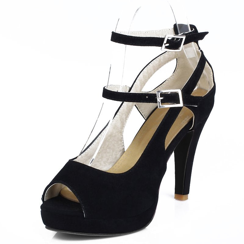 Peep Toe High-heeled Shoes Women Pumps Gladiator Shoes Platform Super High Heels