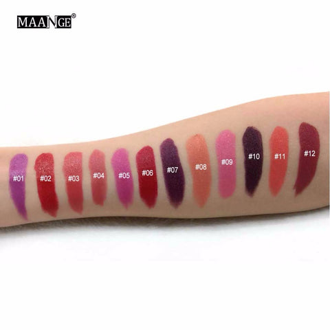 Matte Moisturizing Lipstick Lip Stick Waterproof Lip gloss Easy to Wear Cosmetic Lip Crayons Red Sexy Nude Makeup Lips