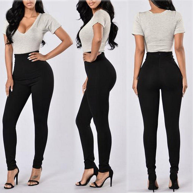 New Fashion Women Summer Ladies Basic Plain Skinny Full Length Cotton Slim Solid Tight Clothing