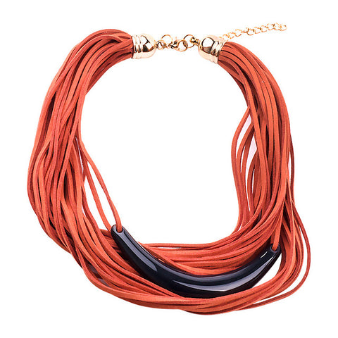 Multi Layer Wrap Ribbon Choker Necklaces For Women Jewelry