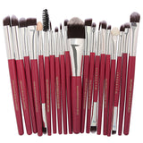 20pcs Cosmetics Beauty Makeup Brushes Set Foundation Power Blush Eye Shadow Brow Blending Make Up kabuki Tool Brush Kit - Style Lavish