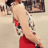 Fashion Women Tops Chiffon Floral Print Blouses Ruffles Turtleneck Shirt Vest Design Loose Brand women clothing - Style Lavish
