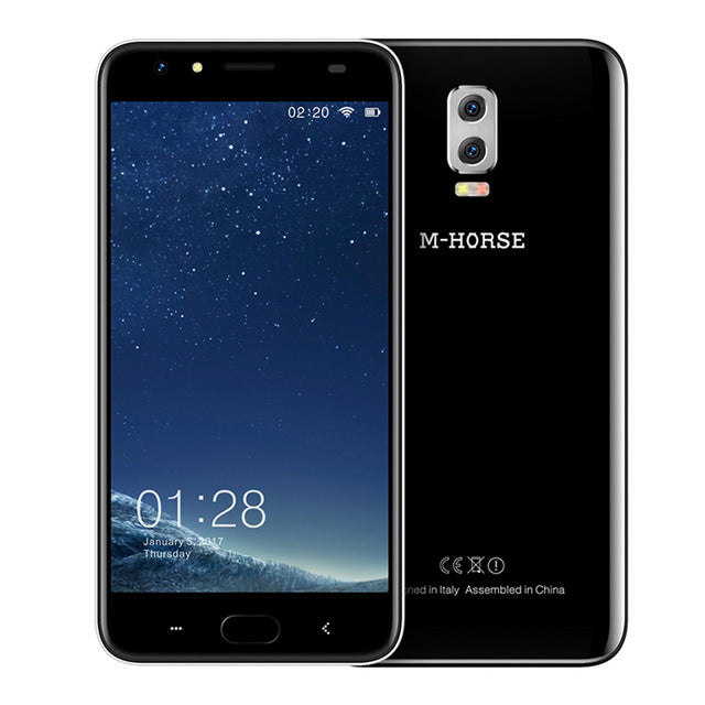 M-HORSE Power 2 6000mAh 5.5'' HD Android 7.0 4G Cell Phone 8MP+2MP Quad Core 2GB+16GB Dual Rear Cam Smartphone Fingerprint BT5.0
