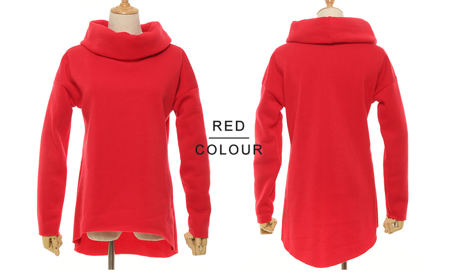Women Winter Hoodies Scarf Collar Long Sleeve Fashion Casual Autumn Sweatshirts Rough Pullovers