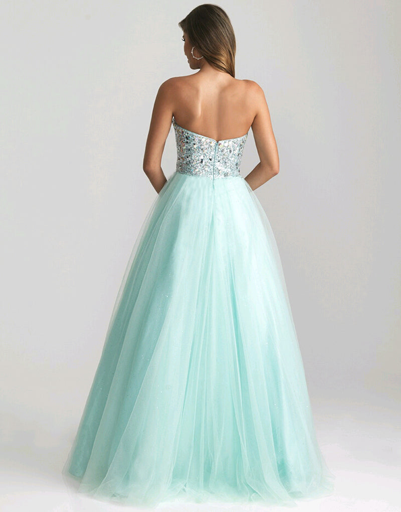 Women Dress Princess Light Green Long Sexy Evening Party Ball Prom Gown Formal Bridesmaid Cocktai