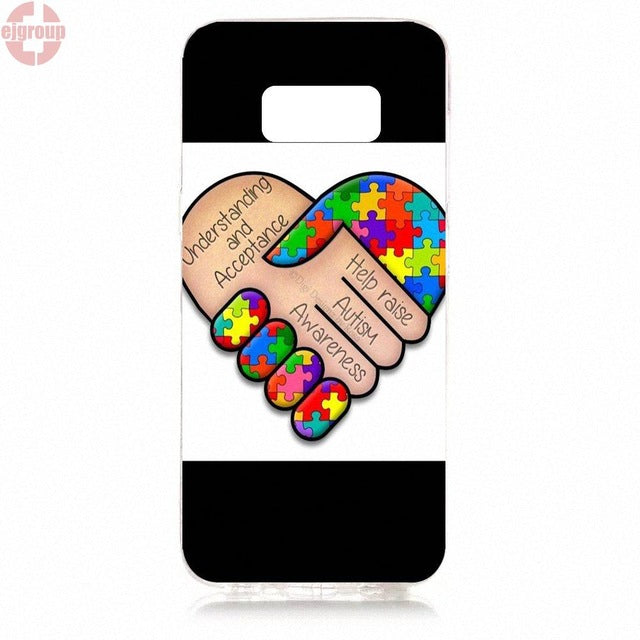 EJGROUP For Samsung Galaxy S8 5.8 inch G950 G950F SM-G9500 Soft TPU Silicon Best Cases Autism Awareness - Style Lavish