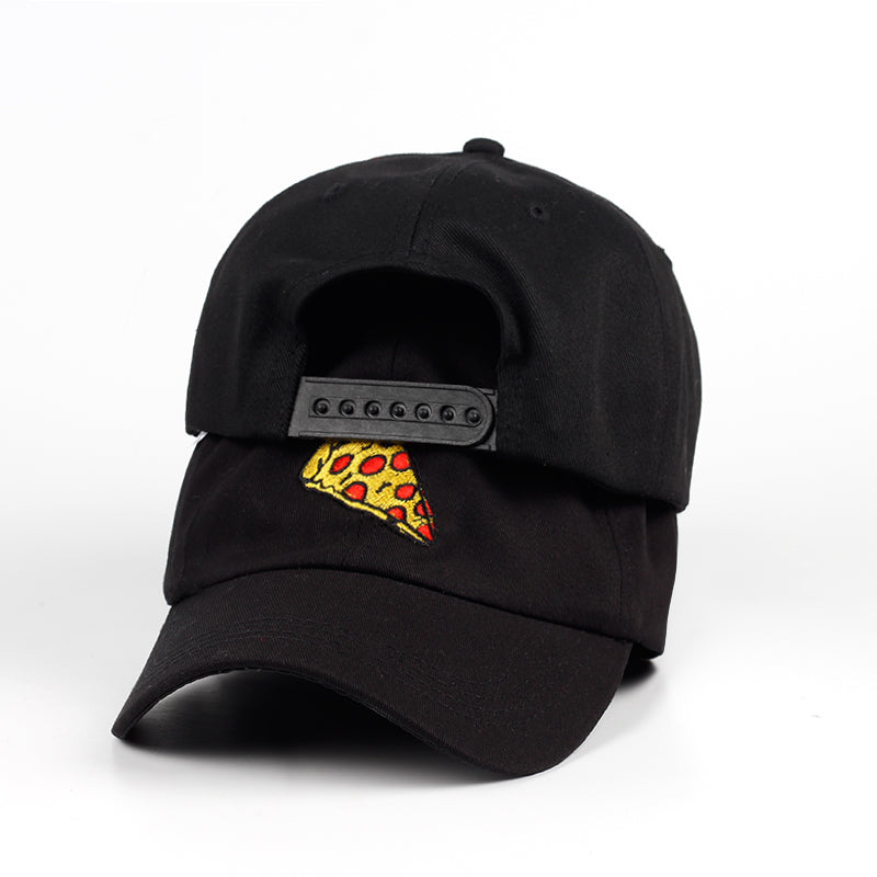 Pizza Embroidery Cap Trucker Cotton Hat For Women Men Cap Adjustable Size Baseball Cap Outdoor Sports Sun Sat