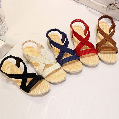 Women Flats Sandals Fashion Casual Beach Summer Sandals Bohemian Shoes