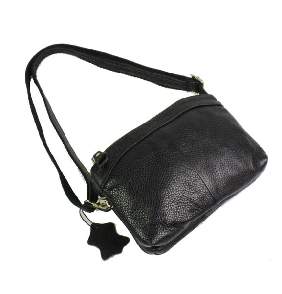 Women Genuine Real Leather Cowhide Fashion Clutch Bag handbags Cross B 268f35a25a0b