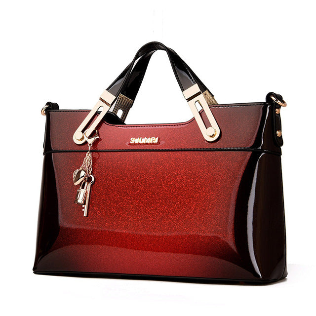 Organizer Women Leather Handbags Luxury Handbags Women Bags Designer Handbags High Quality Patent Leather Fashion  Totes