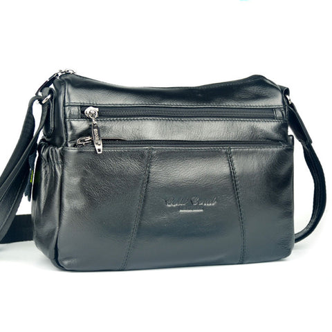New High Quality Genuine Real Leather Cowhide Bags Women Cross Body  Shoulder Bag Travel Casual Brand Messenger Bags 7e0b2e3379895