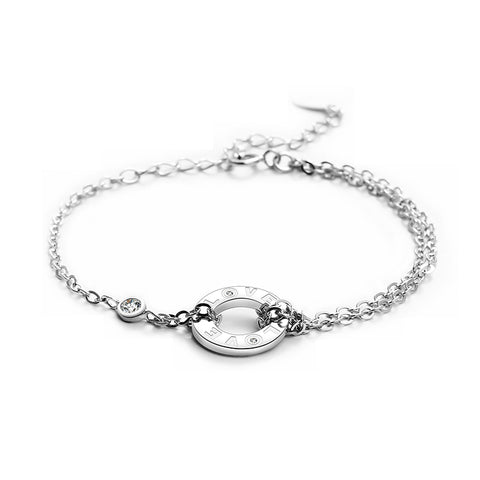 Customized Forever Love Cubic Zirconia 925 Sterling Silver Constellation Bracelets for Women  Fashion Jewelry - Style Lavish