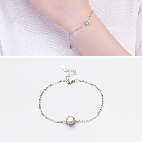 L&P 2017 New Women High Quality CZ Bohemia Bracelet Real 925 Sterling Silver Blacelet Fine Jewelry Lucky Clover Bracelets