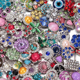 50pcs lot Amazing Styles Rhinestone Opal Natural Stone Metal Buttons 18mm snap button Jewelry for Snap Jewelry - Style Lavish