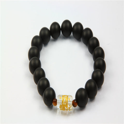 Women Stone Beads Bracelets Black Tone Bangles 10pc/Lot  DIYBracelets drop shipping birthday gifts