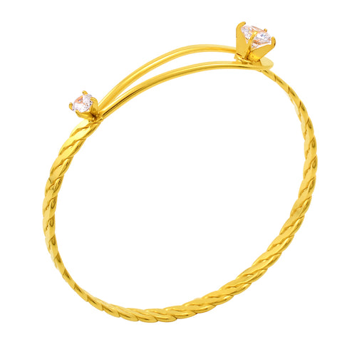 MJB0499 Twist Wire Wrap Bracelet Clear Zircon Inlay Fashion Women 2017 Bangle