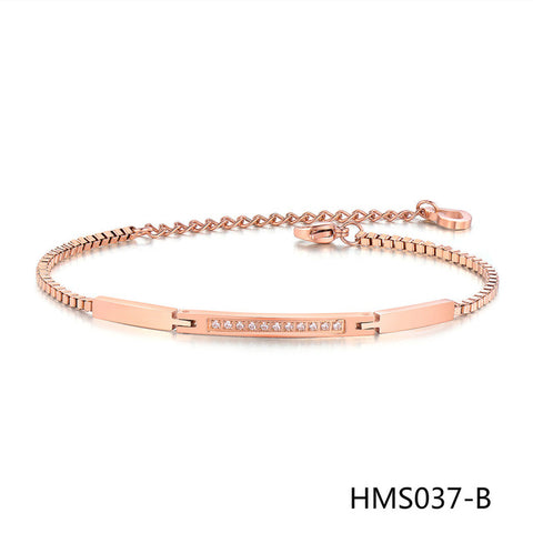 Jewelry Micro Insert 3A Zircon Bracelet Rose Chain Sweet Small Accessories