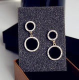 Fine Jewelry Quality Designer Women Round Rhinestone Drop Earrings All Matching Women dangle earrings