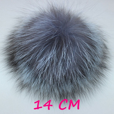 10pcs lot DIY 8-14cm Silver Fox Fur Pompom Fur Ball For Women Kids Winter Skullies Beanies Hat  Keychain - Style Lavish