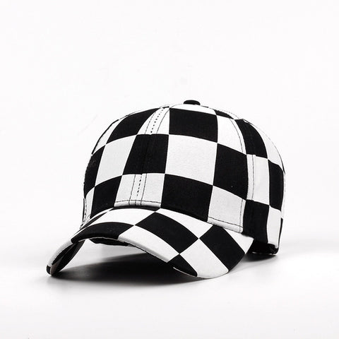 Fashion Adjustable Baseball Cap Men Women Hat Cotton Black And white Color Printing Dyeing Summer Hat - Style Lavish