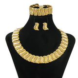 Liffly Fashion Nigerian Women's Jewelry Accessories Gold