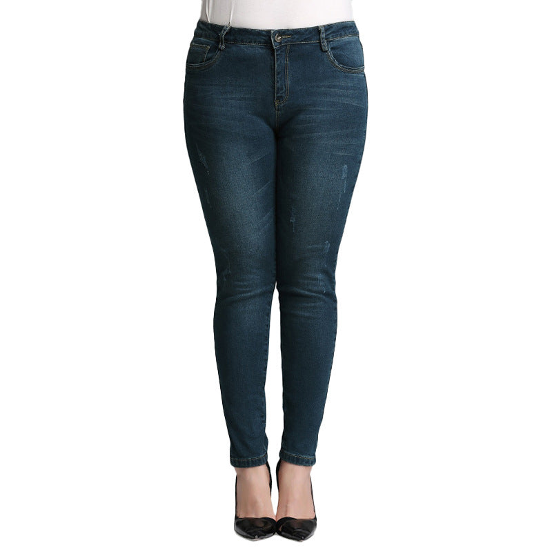 Women Motorcycle Biker Zip Mid High Waist Stretch Skinny Pants Motor Jeans Pencil Pants