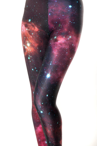 Women Universe Nebula Fashion Sexy High Elasticity Spandex Galaxy Fitness Tights Disco Pencil Pants