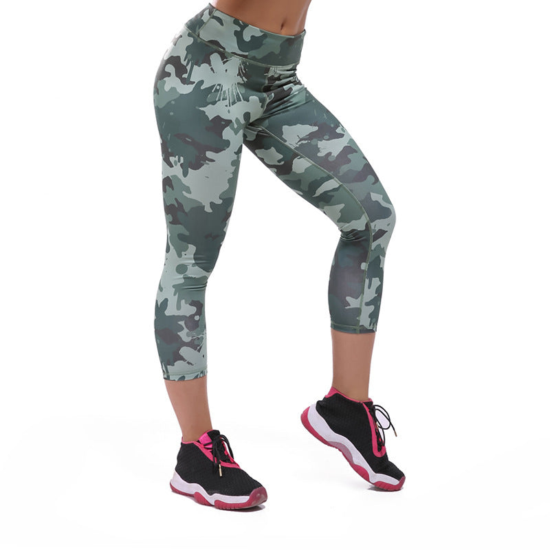 Camouflage Women Fitness Pants Skinny Tights Buttocks Compression Tight Pants - Style Lavish