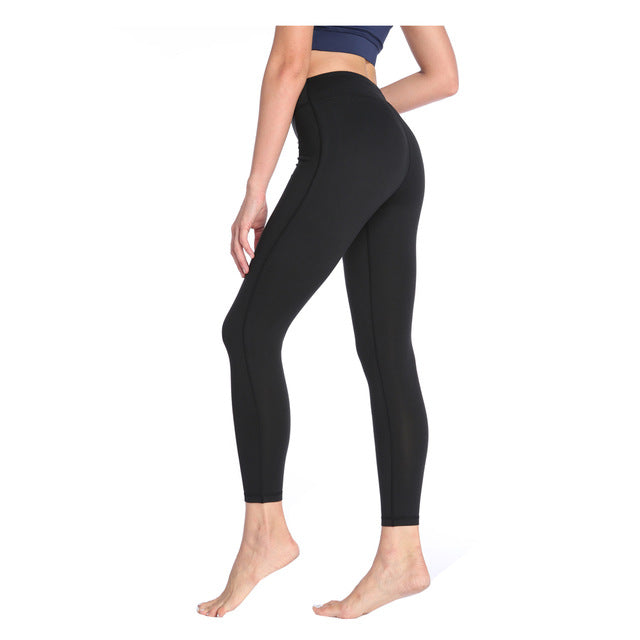 Women Fashion Elastic Ninth Pants Tights Fitness Pants Slim wear Quick Drying