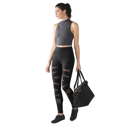 Women Fashion Tights Pants Female  Mesh Workout Fitness Pants