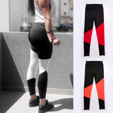 Women Patchwork Full Length High Waist Fitness Tights Pants