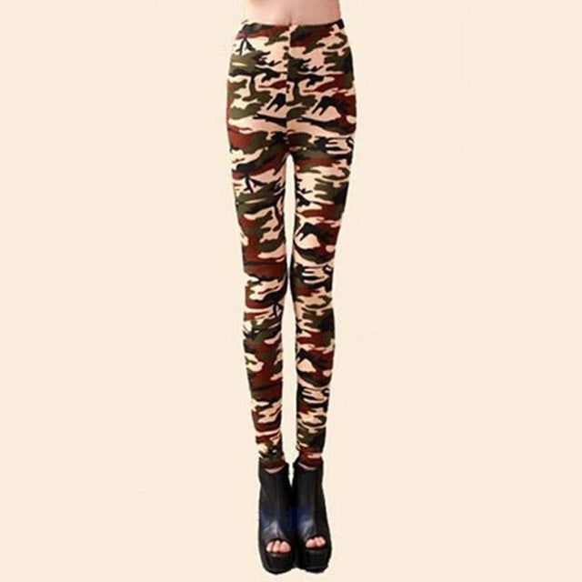 Fashion Novelty Polyester Material Women Slim Colorful Print Punk Funky Stretch Pencil Tights Pants Trousers vicky - Style Lavish