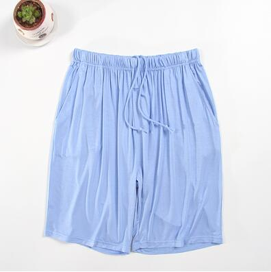 Women Summer Shorts Pyjama Trousers Modal Cotton Solid Thin Loose Lounge Elastic Knee Length Sleep Short