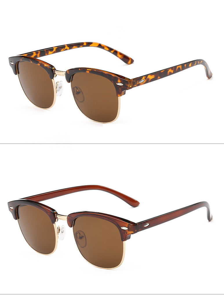 a9f4868ede0 ... Classic Men Half Frame Polarized Sunglasses Women Brand Designer  Vintage Mirror Female Sunglass Male Sun Glasses ...