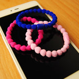 10 Pcs Fashion Women Hair Accessories Cute Black Elastic Hair Bands Girl Hairband Hair Rope Gum Rubber Band - Style Lavish