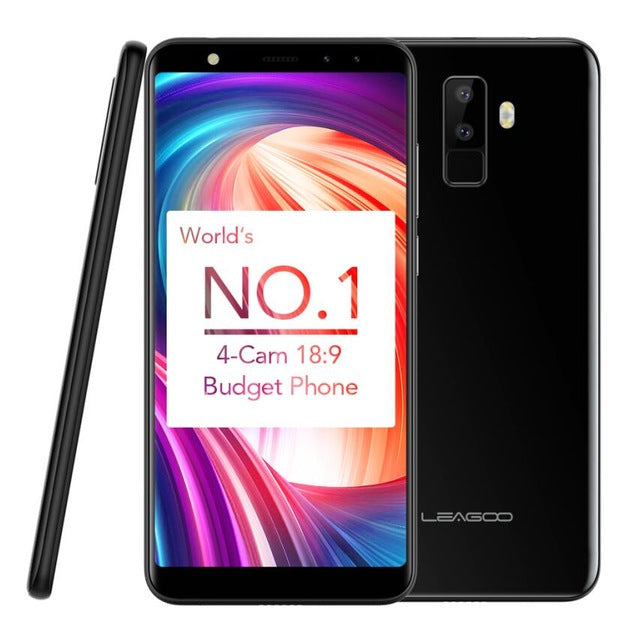 "2018 LEAGOO M9 Smartphone 5.5"" 18:9 Full Screen Four-Cams 2G+16GB Android 7.0 MT6580A Quad Core 2850mAh Fingerprint Mobile Phone - Style Lavish"