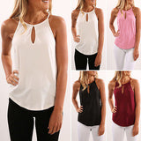 UK Women Summer Vest Tops Sleeveless Shirt Blouse Casual Tops Shirt Ladies Womens Casual Brief Blouses Shirts