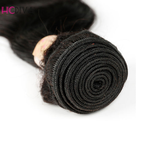 Brazilian Body Weave 3 Bundles With Closure Remy Human Hair Bundles With Closure 4 pcs/lot 8--28inch Human Hair Extension - Style Lavish