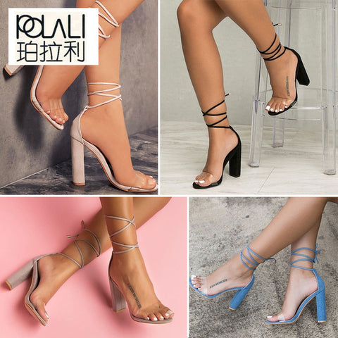 Women Summer Shoes T-stage Fashion Dancing High Heel Sandals Sexy Stiletto Shoes