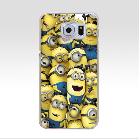 112GG HOP Minion love Hard Cover Case for Samsung Galaxy S3 S3 Mini S4 S4 Mini S5 Mini S6 S6 edge&plus S7 S7 Edge