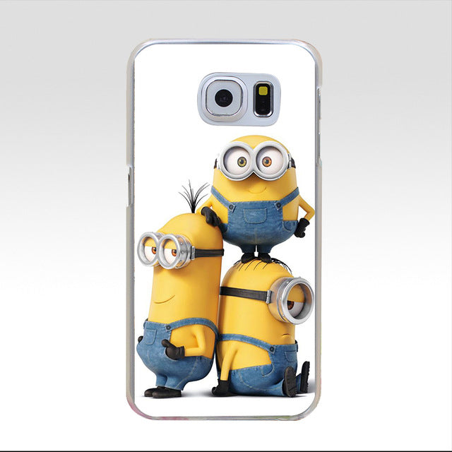 112GG HOP Minion love Hard Cover Case for Samsung Galaxy S3 S3 Mini S4 S4 Mini S5 Mini S6 S6 edge&plus S7 S7 Edge - Style Lavish