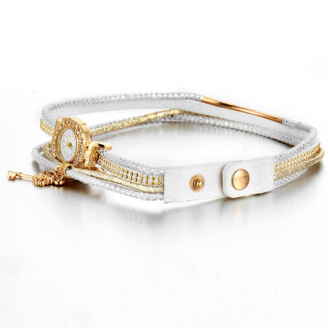 Fashion Lock Crystal Watch Bracelet Multilayer Bracelet For Women Charm Bracelets  Bangles Vintage Jewelry - Style Lavish